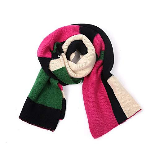 Ome&qiumei autunno e inverno doppia sciarpa colorata spessa sciarpa a maglia calda scialle femmina -195 * 50cm