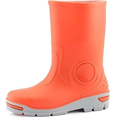 Ladeheid Kinder Gummistiefel mit Warme Socke LARB013(Orange, 21/22 EU)
