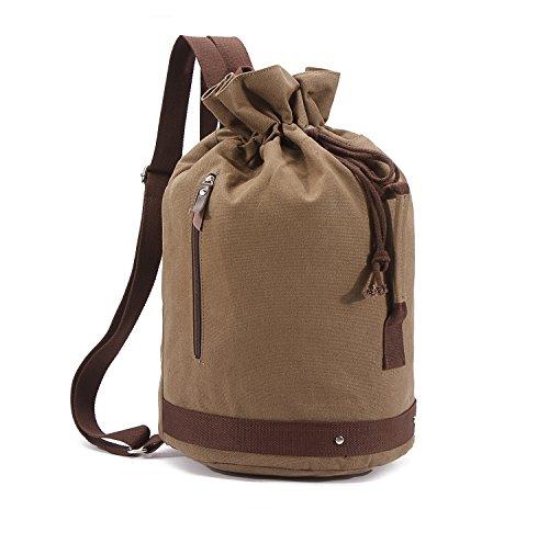 Sac de sport pour homme / sac de loisir / sac à main / Sac à dos en toile sac personnalisé forme tambour Taille: 30 * 55 * 30 CM