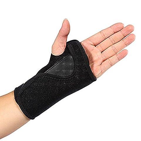 Doact Orthosis Handgelenk Brace/Splint für Handgelenkbandage, für Schmerzlinderung von Carpal Tunnel-Syndrom, Arthritis, spregen und Belastungen für Frauen und Männer (Single size) (Linke Hand)