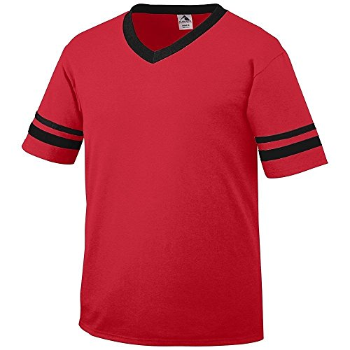 Augusta Herren T-Shirt Weiß Weiß rot - rot / schwarz