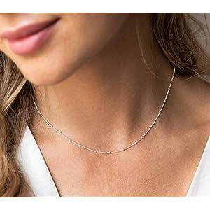 Schmuck Frauen Kette Kügelchen Silber Geschenke