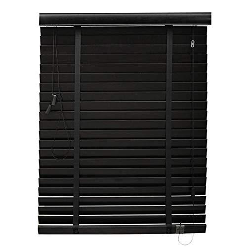 WUFENG Persianas Venecianas Madera Maciza Sombreado Protector Solar Impermeable Sala, Múltiples Tamaños Puede Ser Personalizado Cortina (Color : Negro, Tamaño : 150x300cm)