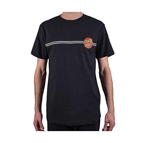 Santa Cruz Schwarz Og Classic Dot T-Shirt (Large, Schwarz) (Santa-t-shirt)