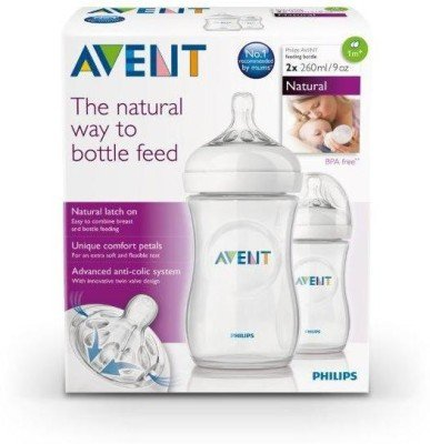 Born Babies Avent Natural 260ml Twin Pack - 260 Ml(White)