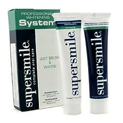 Supersmile Professional Whitening System: Toothpaste 50g/1.75oz + Accelerator 34g/1.2oz 2pc