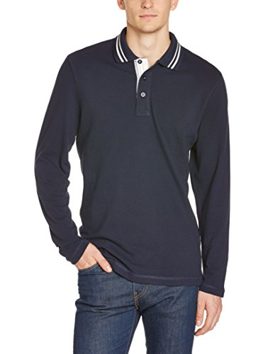 James & Nicholson Poloshirt  Men's Long-Sleeve-Polo Uomo, Azul, Medium (Tallia Produttore: Medium)