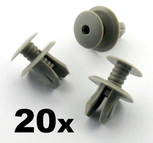 20 x Clips Agrafe Plastique Gris Foncé - Garnissages / Habillages