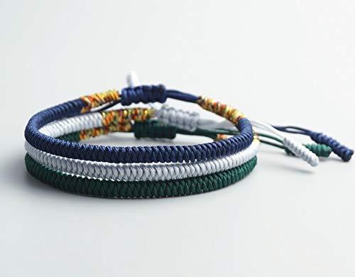 XIANNU Damen Armband,Multi Color tibetisch-buddhistischen Gute Charme tibetischen Armbänder Armreifen für Frauen Männer handgefertigt Knoten Seil Armband blau
