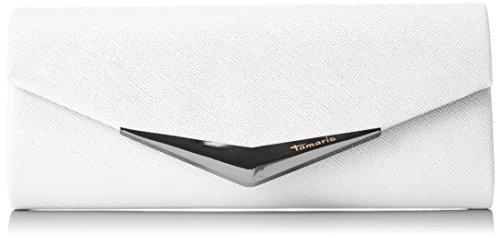 Tamaris Damen Tamara Clutch Bag, Weiß (White), 5x11x26 cm (Wallet Bag Clutch)