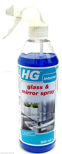 HG Glasreiniger, Innenspiegel-Reiniger, Spray, Super Konzentrat, 500 ml