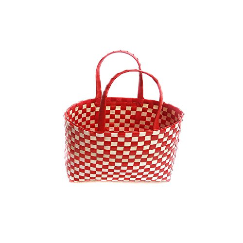 Cruzun Wire Basket - Shopping Plastic Basket with Handle - Multipurpose Storage Basket - Picnic Plastic Basket - Storage Basket for Kitchen, Vegetable and Fruits