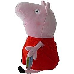 Peppa Pig 27cm Peluche Cerdita Vestido Rojo Muñeco Original Serie TV Niña Super Suave Alta Calidad Nuevo Nickelodeon Junior Nick Dibujos Animados