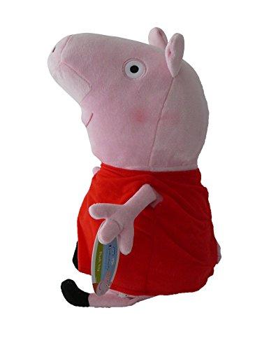 Peppa WutzPig 27cm Plüsch Ferkel Schweinemädchen Schweine Plüschtier Kuscheltiere Stofftier Roten Kleid TV Serie Nickelodeon Junior Nick Plüschpuppe Maskottchen Hohe Qualität Original Cartoon (Maskottchen Pig Peppa)