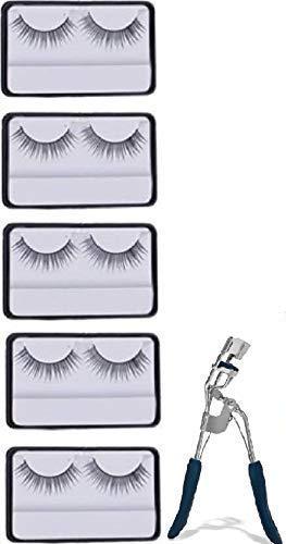 Spanking Eyelash Curler And False Eyelashes Vega for Women 3D Fake Eyelashes Set of 5 Pairs