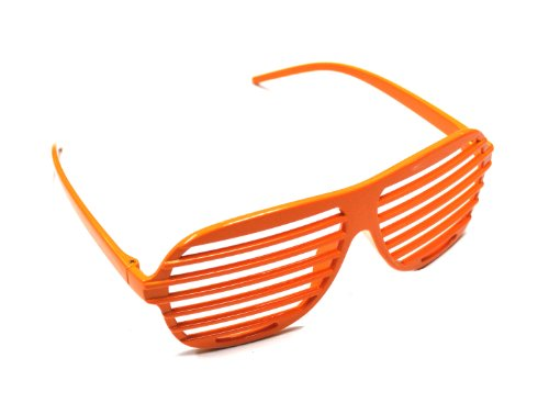 Novelty Glasses Accenter Sonnenbrille Orange