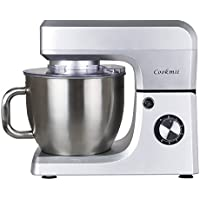 Cookmii 1800W Professional Food Stand Mixer with 6.5 L Stainless Steel Bowl Silver