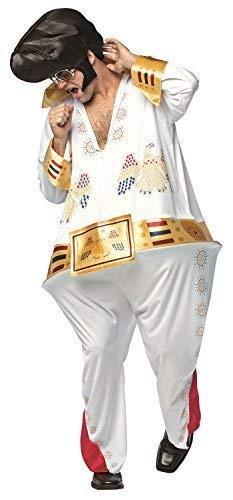 Herren König Rock & Roll Junggesellenabschied Abend Party Music Promi Vegas Star Neuheit Lustig Komödie Kostüm Kleid (Star Kostüm Las Vegas)