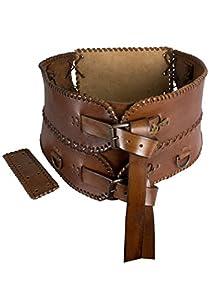 Epic Armoury- Broad Belt-Brown-L Cinturón, Color marrón, medium (Iron Fortress 100810L)