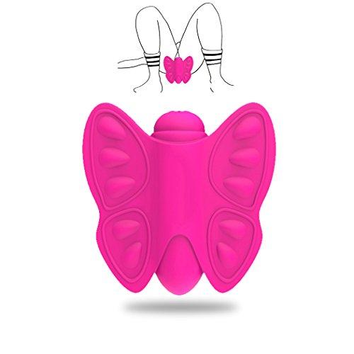 Enshey Vibrator Neue Geheimnis Mini Silikon Butterfly Massager für Sie Klitoris und G-punkt Vibratoren Weiblichen Erwachsenen Sex Spielzeug Wasserdicht rosa