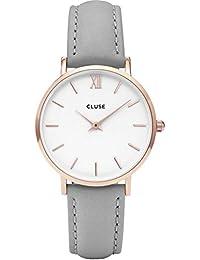 Cluse Unisex-Armbanduhr Analog Quarz Leder CL30002