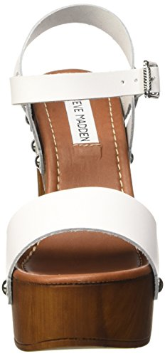 Steve Madden Shaylah, Chaussures à Talons à Bout Ouvert Femme Blanc (White)