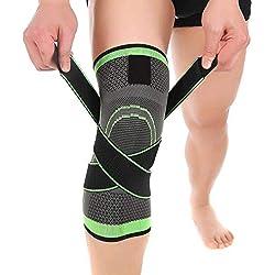 Genouillère de compression - Crossfit Bandage Réglable Genouillère - Protection pour course à pied, sports, soulagement des douleurs de rotule et d'articulations, guérison arthrite et de blessures