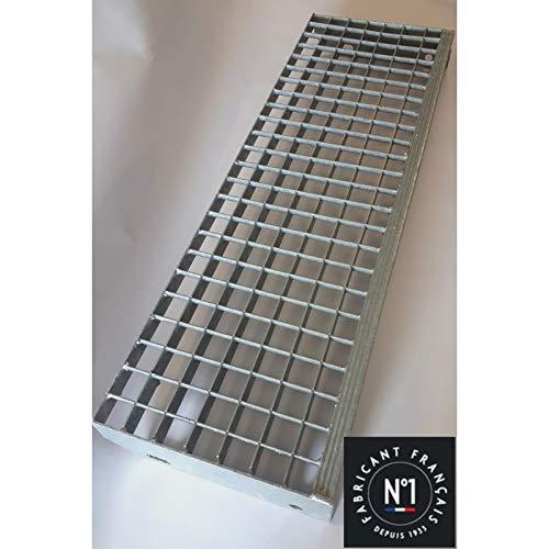 Trittbretter Stahl verzinkt, 700 x 250 - Masche 30 x 30 - Querschnitt 30 x 2 - Stahl-trittbrett
