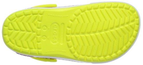 crocs Unisex-Erwachsene Crocband II.5 Clog Pantoletten Gelb (Tennis Ball Green/Vibrant Viola)