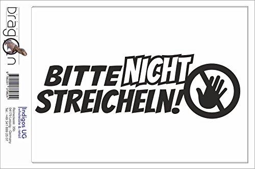 Black Dragon - T-Shirt Herren - JDM / Die cut - Bitte nicht streicheln Schwarz