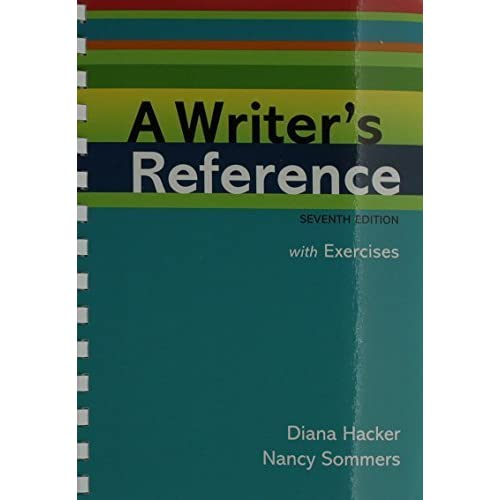 Writer's Reference 7e with Integrated Exercises & paperback dictionary 7th edition by Hacker, Diana, Sommers, Nancy (2010) Plastic Comb