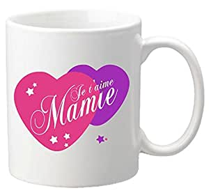 mug je t 39 aime mamie cadeau pour la f te des grands m res. Black Bedroom Furniture Sets. Home Design Ideas