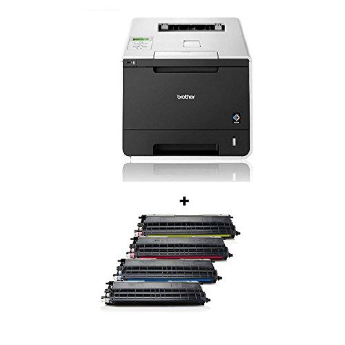 Brother HL-L8250CDN Farblaserdrucker NEU inkl. XL Rebuilt Toner Set als Ersatz für TN 326 (4000 - 3000 Seiten) 4er Set