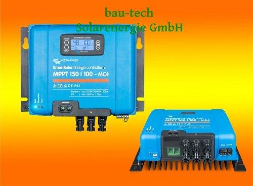 Victron SmartSolar MPPT 150/100-MC4 für 12V, 24V, 48V Solar-Laderegler mit LCD Display von bau-tech Solarenergie GmbH