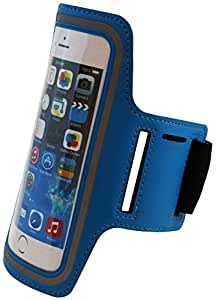 Apple Iphone 6 Plus 5.5'' Inch Neoprene Cell Phone Armband for Running, Walking, Hiking, and Other Exercise and Sports Activities by ASCT (Aqua Blue)
