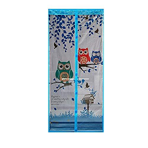 Ciojio Tür-Vorhang mit 40x 80cm mit Magnetverschluss closure-keep Mosquito Fliegen Käfer aus Glas für Balkon, für das Wohnzimmer, für Kinder, kein Werkzeug