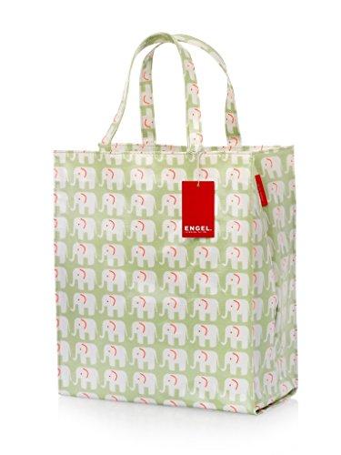 Engel Elefanten Tasche, Sie bestehen aus 100 % Baumwolle, sind laminiert mit einer haltbaren PVC-Beschichtung und haben innen ein Polyester-Futter, 34 x 28 x 13 cm (Pvc Laminiert)
