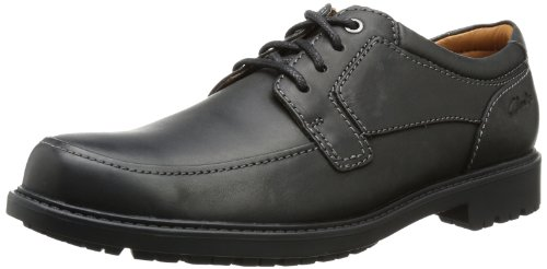Clarks Redworth Plan, Scarpe stringate uomo 39.5, Schwarz (Black Leather), 44.5