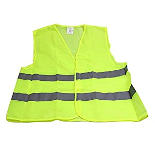 Homelectric Inc Visibility Reflective Working Clothes Warning Outdoor Safety Vest (Green)