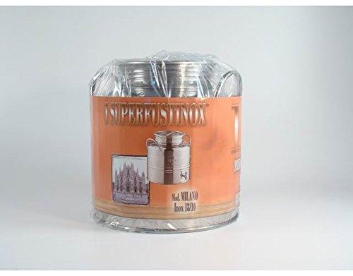 Gebindegröße Behälter aus Edelstahl 15Liter mit Wasserhahn für Öl Milch Wein - 15 Liter Öl