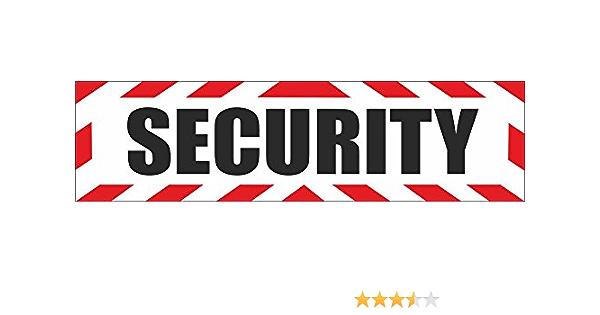 Indigos Ug Magnetschild Security Mit Rahmen 45 X 12 Cm Magnetfolie Für Auto Lkw Truck Baustelle Firma Auto