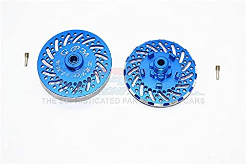 Traxxas E-Revo Brushless Edition Upgrade Pièces Aluminium Wheel Hex Claw +2mm With Brake Disk - 2Pcs Set Blue
