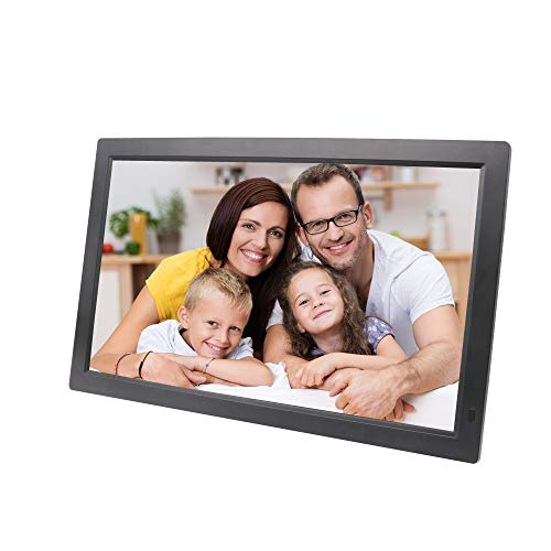 TONGTONG 22 Zoll Digital Photo Picture Frame FHD 1920 x1080 IPS Screen Support Calendar/Clock/MP3/Photos mit Fernbedienung,Black Display Screen Digital Photo