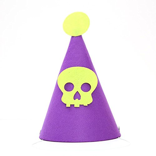 Hunpta Halloween Schläger Hut Hexe Kappen Kürbis Hut Schädel Hut Schläger Partei dekorativ (C)