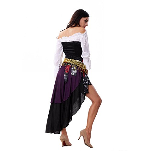 Sexy Ladies Captains Schatz Karibik Piraten-Halloween-Kostüm Schwarz