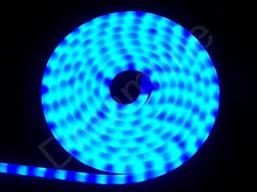 LED Lichtschlauch Blau 5m Milchig - Neon Effekt - 230V - 180 LEDs - Dimmbar - IP44/68