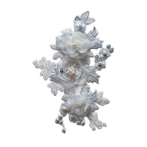 Floridivy Frauen-Mädchen-Perlen Kleidung Paste Blumen Bild Pailletten