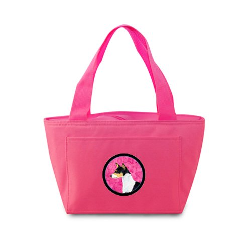 Caroline's Treasures SS4790-PK Basenji Lunch or Doggie Bag, Large, Pink