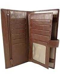 Compagnon, tout en un, porte-chéquier double long et format portefeuille 10 CB cuir de vachette