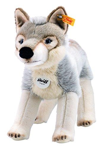 Steiff 69246 - Snorry Wolf 32, Traditioneller Plüsch, weiß/grau